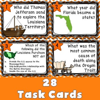 Westward Expansion Task Cards