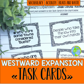 Westward Expansion Task Cards - Black and White