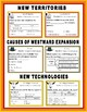 Westward Expansion Task Cards: Causes, New Territories, an