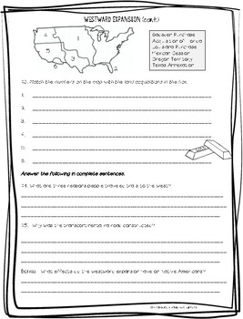 Westward Expansion Test and Study Guide