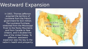 Westward Expansion- The Frontier PowerPoint