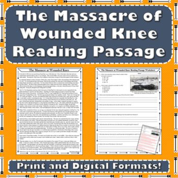 Westward Expansion - The Massacre at Wounded Knee Reading Passage