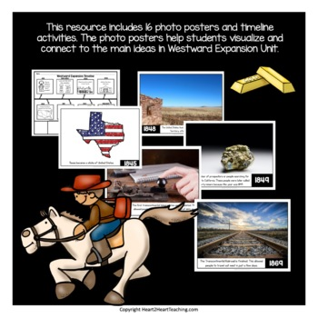 Westward Expansion Timeline Kit with Posters & Activities