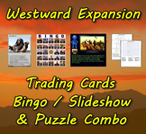 Westward Expansion Trading Cards, Bingo/Slideshow and Puzzle Combo