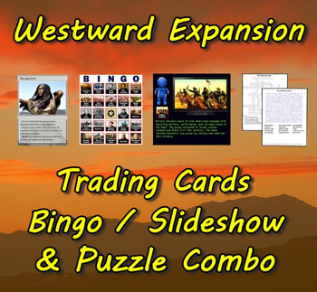 Westward Expansion Trading Cards, Bingo/Slideshow and Puzz