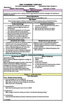 Westward Expansion UbD Unit Plan