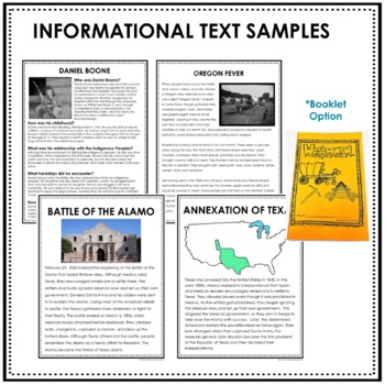WESTWARD EXPANSION UNIT with Informational Text and Activities PLUS Student PDF