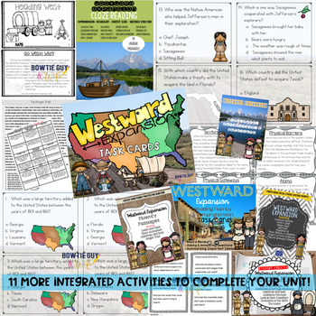 Westward Expansion Unit Bundle of Nonfiction Texts, Assessments, and Activities