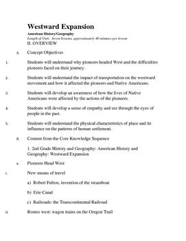 Westward Expansion Unit - Seven Lessons