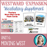 Westward Expansion Vocabulary Posters, Flash Cards, and Wo