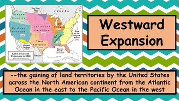 Westward Expansion Vocabulary PowerPoint Presentation and Vocabulary Game