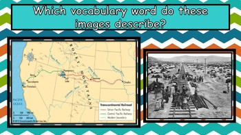 Westward Expansion Vocabulary Presentation and Matching Game