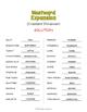 Westward Expansion Vocabulary Word Scramble