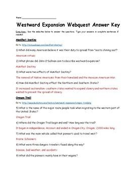 Westward Expansion Webquest (Manifest Destiny)