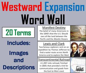 Westward Expansion Word Wall Cards