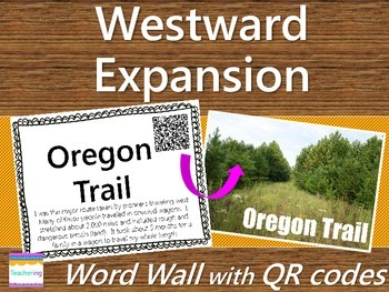 Westward Expansion Word Wall {with QR Codes}