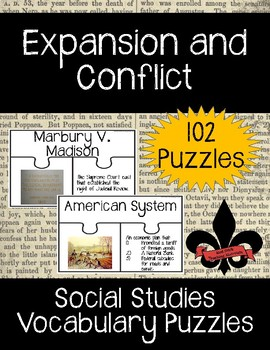 Westward Expansion and Conflict Vocabulary Puzzles