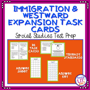Westward Expansion and Immigration Task Cards