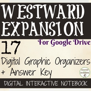 Westward Expansion Manifest Destiny Digital Interactive Notebook 10% OFF IN SEP