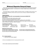 Westward Expansion and Manifest Destiny project
