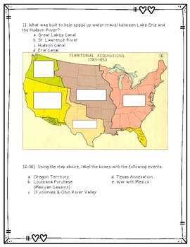 Westward Expansion and Women's Rights & Suffrage Assessment/Study Guide