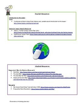The Events of the Cold War - Research & Presentation Project