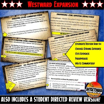 Westward Expansion or Manifest Destiny Warm-Ups Skill Based, Mini Lessons