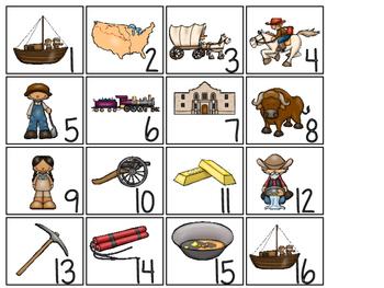 Westward Expansion themed Printable Calendar Pieces Classroom Bulletin Board Set