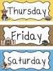 Westward Expansion themed Printable Days of the Week Class