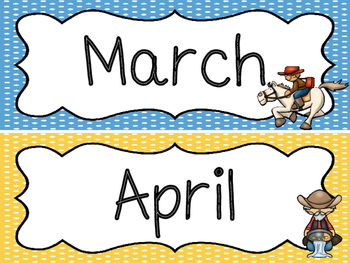 Westward Expansion themed Printable Month Classroom Bulletin Board Set. Class