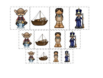 Westward Expansion themed Size Sorting preschool learning game.  Daycare.