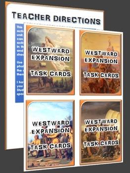 Westward Expansion/Manifest Destiny - Task Cards (36 Westward Exp. Task Cards)