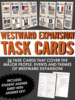 Westward Expansion/Manifest Destiny - Task Cards (36 Westward Exp. Task Cards)