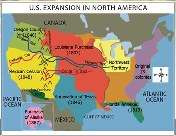 ExpansionManifest Destiny US WorksheetHomeworkPrintableActivity - 1819 map of us
