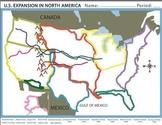 Westward Expansion/Manifest Destiny U.S. Worksheet/Homewor