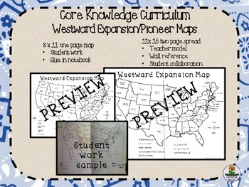 Westward Expansion/Pioneers Blank Maps for Core Knowledge Curriculum