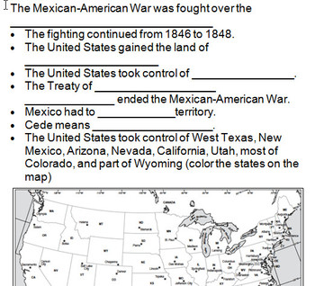 Westward Growth- 4th Grade PowerPoint and Interactive Notes