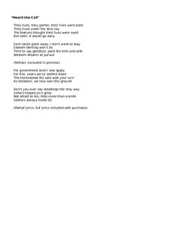 """Westward Expansion Manifest Destiny Song To Miley Cyrus """"W"""