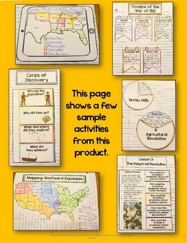 Westward Expansion Interactive Notebook 4th-5th Grade