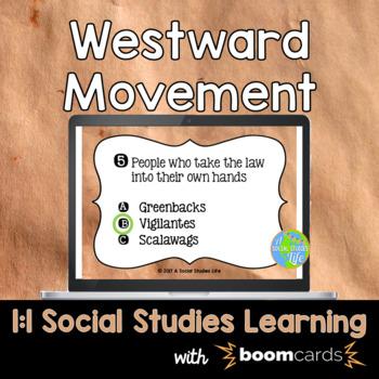 Westward Movement Interactive Task Cards