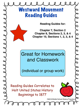 Westward Movement Reading Guides for Holt Textbook