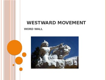 Westward Movement Word Wall