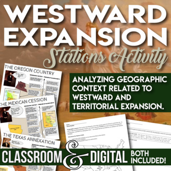 Westward Expansion Territorial Expansion Stations Activity