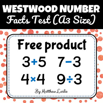 Westwood Number Facts Test - (A3 Size)