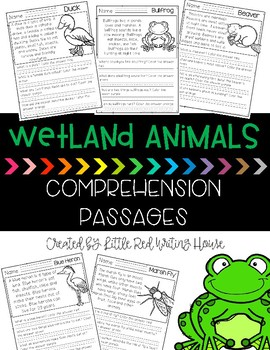 Wetland Animal Comprehension Passages