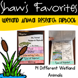 Wetland Animal Research Flipbook {14 Different Wetland Animals}