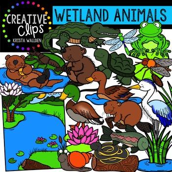 Wetland Animals Clipart {Creative Clips Clipart}