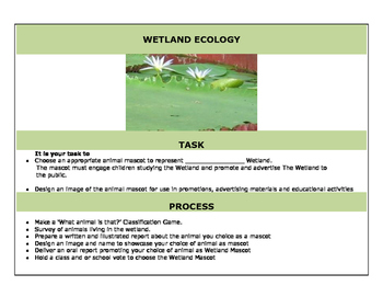 Wetland Ecology: A simulation and webquest