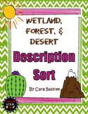 Wetland, Forest, Desert Physical Description WORD SORT