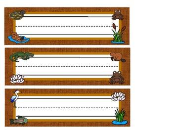 Wetland Habitat Desk Name Plates / Labels